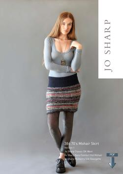 Jo Sharp 70aposs Mohair Skirt  Pattern Download