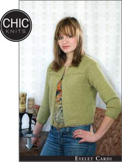 Chic Knits Eyelet Cardi - Pattern download