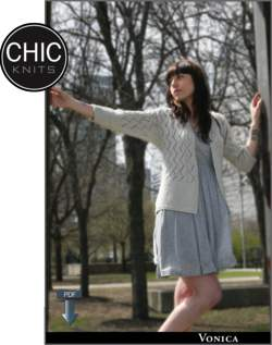Chic Knits Vonica Cardigan - Pattern download