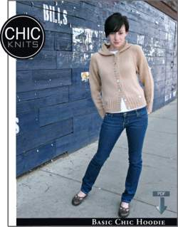 Chic Knits Basic Chic Hoodie  - Pattern download