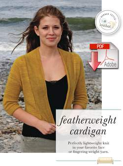 Knitbot Featherweight Cardigan  Pattern download