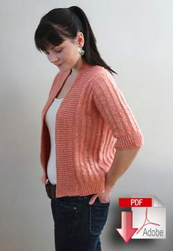 Knitting patterns Knitbot Spring Ribbed Cardigan - Pattern download