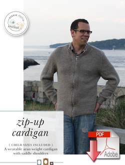 Knitbot ZipUp Cardigan  Pattern download
