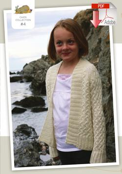 Coastal Kids Tiny Rocky Coast Cardigan  Pattern download