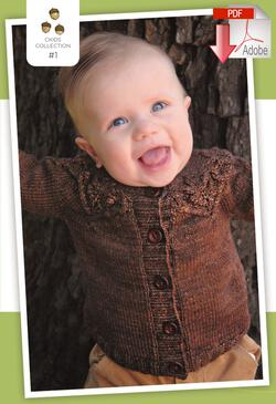 Knitting patterns Coastal Kids Little Oak Cardigan - Pattern download