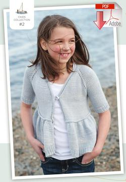 Coastal Kids Mini Water's Edge Cardigan - Pattern download