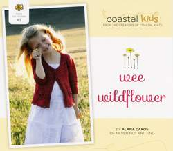 Knitting patterns Coastal Kids Wee Wildflower Cardigan