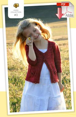Coastal Kids Wee Wildflower Cardigan  PDF Pattern Download