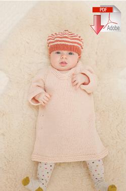 Mabel's Closet Autumn Frock & Stripe Hat - Pattern download