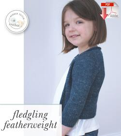 Knitbot Fledgling Featherweight Cardigan  PDF Pattern Download