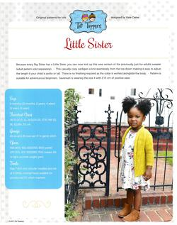new book or magazine: Tot Toppers Little Sister - Pattern download