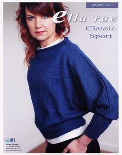 Knitting patterns Maleny Dolman Sweater - Ella Rae Sport