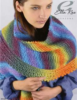 Ella Rae Seasons Amigo Shawl