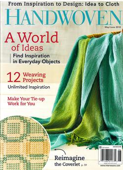 new book or magazine: Handwoven May/June 2018
