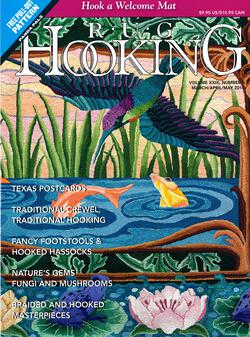 new book or magazine: Rug Hooking March/April/ May 2018