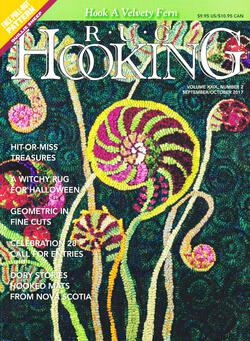 new book or magazine: Rug Hooking Sept/Oct 2017
