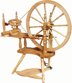 Kromski Polonaise Spinning Wheel, Clear
