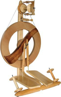 Kromski Fantasia Spinning Wheel  - walnut on clear