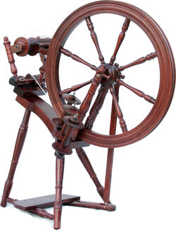 Kromski Interlude Spinning Wheel, Mahogany