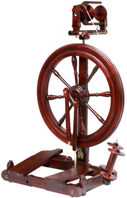 Kromski Sonata Double-Treadle Spinning Wheel, Mahogany