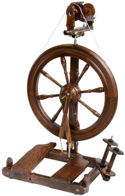 Kromski Sonata Double-Treadle Spinning Wheel, Walnut