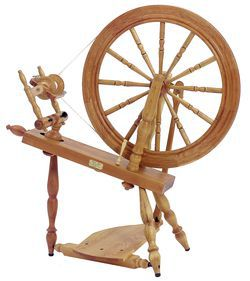 "Schacht - Reeves Spinning Wheel 24""  Single-Treadle, Cherry"