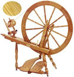 Schacht  Reeves Spinning Wheel 30quot  DoubleTreadle Ash