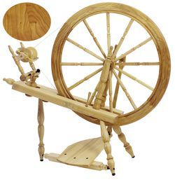 Schacht  Reeves Spinning Wheel 30quot  SingleTreadle Cherry