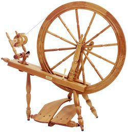 Schacht  Reeves Spinning Wheel 30quot  DoubleTreadle  Cherry