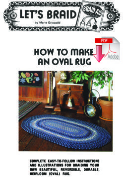 How to Make a Braided Oval Rug  - Pattern download