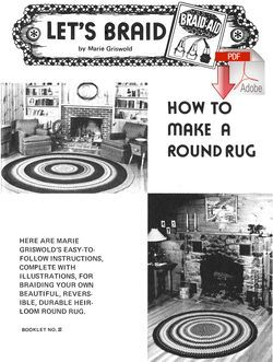 How to Make a Braided  Round Rug - Pattern download