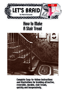 How to Make Braided Stair Treads - Pattern download