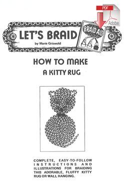 Rug Making books How to Make a Braided Kitty Rug - Pattern download