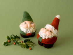 Santa and Elves Needle Felting Kit Romney Ridge