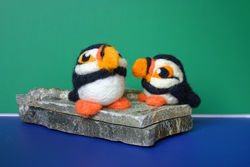 Puffin Needle Felting Kit Romney Ridge