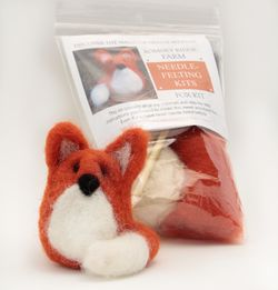 Fox Single Creature Needle Felting Kit  Romney Ridge