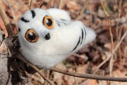 Snowy Owl Single Creature Needle Felting Kit  Romney Ridge