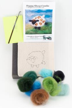 Sheep Tile Felting Kit tools included