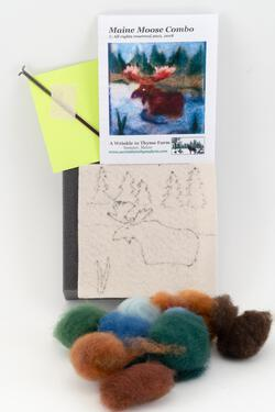 Maine Moose Tile Felting Kit tools included