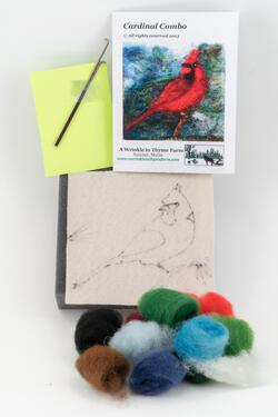 Cardinal Tile Felting Kit tools included