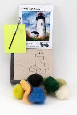 Lighthouse Tile Felting Kit tools included