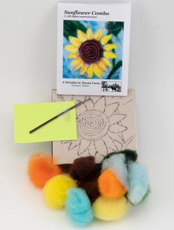 Sunflower Tile Felting Kit tools included