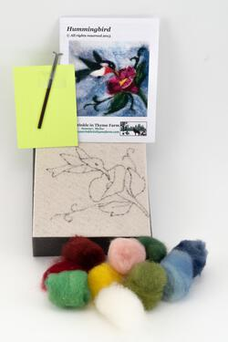 Hummingbird Tile Felting Kit tools included