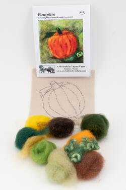 Pumpkin Tile Felting Kit