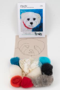 Charlie Dog Tile Felting Kit