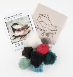 Christmas Chickadee Tile Felting Kit