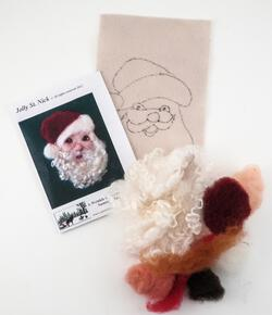Jolly St Nicholas Tile Felting Kit