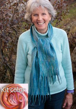 Silk Merino Scarf Kit  Sunset  from Ashford