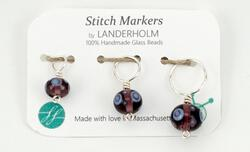 Multicolor Glass Stitch Markers, All Three Sizes (S-M-L), Set of (3)