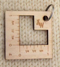 Key Ring Knit Gauge
